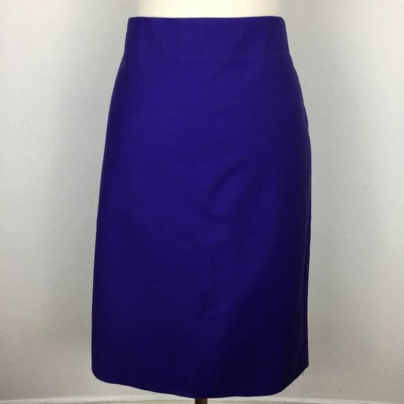 J Crew No. 2 Pencil Skirt Purple size 10